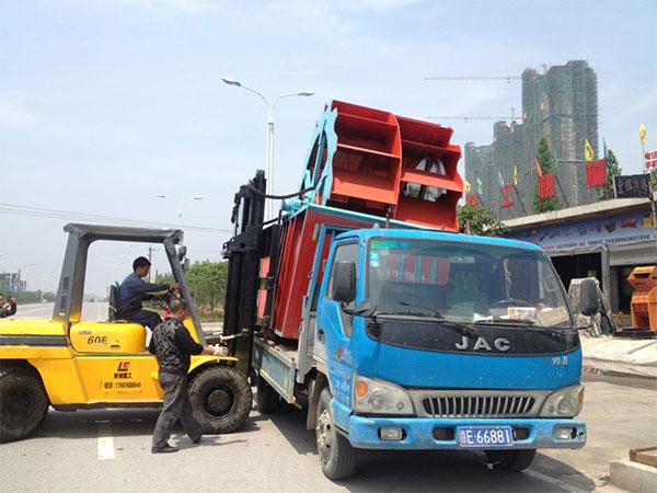 洗砂机发往hu南郴州